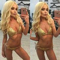 Sexy Sequins New Women Bathing Suit Crochet Bikini Swimwear Cover Up Beachwear