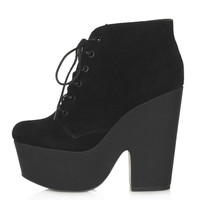 Azure Chunky Lace Up Platform Boots - Shoes - Topshop USA