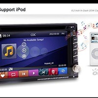 Ouku In-Dash Double-DIN Car Dvd Player with Touch Screen Lcd Monitor, 6.2-Inch+Free Map + Rear Camera