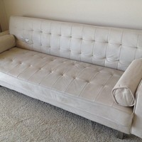 Hip, Modern Microsuede Couch