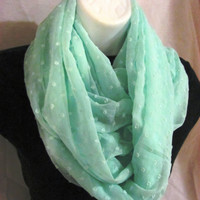 Seafoam Infinity Scarf by GBSCreations on Etsy