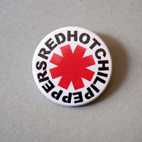 """Red Hot Chili Peppers 1x1.5"""" pinback button badge"""