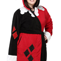 Harley Quinn Ladies' Fleece Robe - Red,