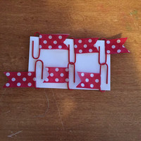 Washi tape page flags clips. Made to order.