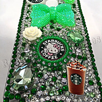 Galaxy Note 4 phone case, starbucks, bling phone case, note 4 cell case, ransdells rhinestones cell phone case