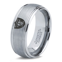 Oakland Raiders Ring Mens Fanatic NFL Sports Football Boys Girls Womens NFL Jewelry Fathers Day Gift Tungsten Carbide 176c