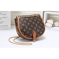 LV Fashion Female Full-Printed Color Single Shoulder Packed Brown