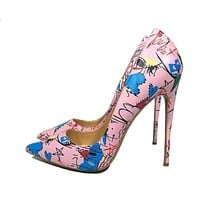 Pink Graffiti Colorful Women Pumps