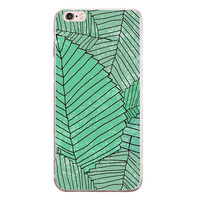 Big Leaves Printed cover Cover for iPhone 6 7 7 Plus