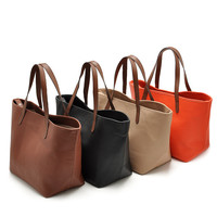 Brand Casual Deformable Women Leather Handbag Women Tote Bolsas Shoulder Bag