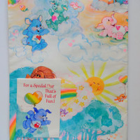 Vintage Care Bear Cousins Gift Wrap Brand New 1980s