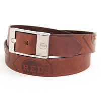 Cincinnati Reds MLB Brandish Leather Belt Size 44