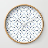 Acrylic Blue Square Dots Wall Clock by Doucette Designs