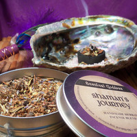 SHAMAN'S JOURNEY INCENSE - Handmade Herbal Mixture of Herbs Oils Woods & Resins to Burn on Charcoal Disks