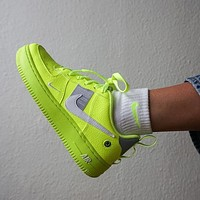 Nike Air Force 1 Utility Low-Top Green Sneakers Shoes