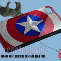 Captain America Shield for iPhone 4/4S/5/5S5C Case, Samsung Galaxy S3/S4 Case, iPod Touch 4/5 Case