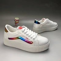 vans fashion casual stripe canvas thick bottom plate shoes women sneakers
