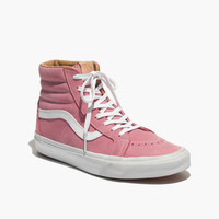 VANS® SK8-HI LEATHER HIGH-TOP SNEAKERS IN PINK