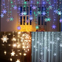 LED Snowflake Icicle Lights