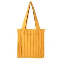 Rib Knit Tote Bag