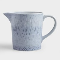 Blue Shibori Print Ceramic Utensil Holder