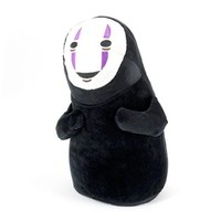 """HiRudolph 11""""Cute Cosplay SPIRITED AWAY Faceless Black No Face Gost Plush Anime Stuffed Toy Doll Black, 11inches"""