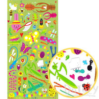 Cartoon Illustrated Snail Grasshopper Beetles Bugs Insect Themed Stickers for Kids   Cute Scrapbook Decorating Supplies