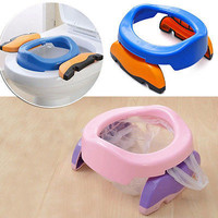 Foldable Portable Travel Potty Chair Toilet Seat For Baby Kids Plastic ChairHUUS