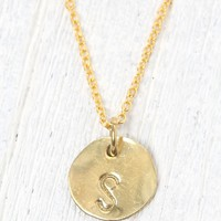 Me To We 'S' Stamped Necklace - Womens Jewelry - Gold - One