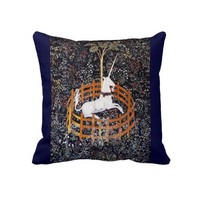 Unicorn Tapestry Throw Pillow from Zazzle.com