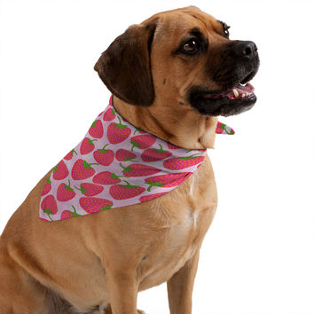 Lisa Argyropoulos Strawberry Sweet In Pink Pet Bandana