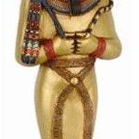 Osiris Egyptian Majestic God of Underworld Wearing Crown Statue 9.5H