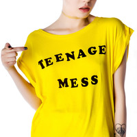 Wildfox Couture Teenage Mess Jagged Edge T Cher