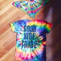 Good Vibe Tribe Tie Dye T (colors and letters vary)