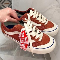 VANS Fashion low-cut stitching color sports sneakers Classic men's and women's canvas shoes