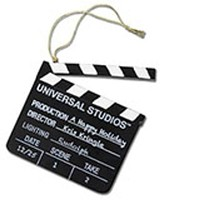 Universal Studios Clapboard Ornament new with tag
