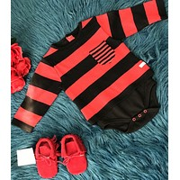 Rugged Butts Red/Black Boys Stripped Onesuit CH