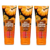 3 PACK Bath & Body Works SWEET CINNAMON PUMPKIN Ultra Shea Body Cream 8oz