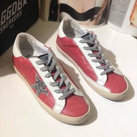 GGDB Golden Goose Uomo Donna Sliver Star Fashion Shoes Low Top Pink Sneaker