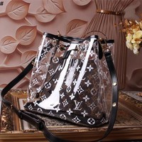 LV Louis Vuitton PVC AND LEATHER NEONOE SHOULDER BAG