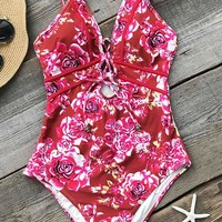 Cupshe Joyous March Print One-piece Swimsuit