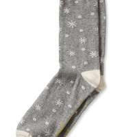 "Banana Republic ""Up To Snow Good"" Sock Size One Size - Medium gray heather"