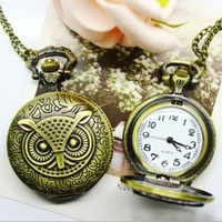 accessoryinlove — Classical Owl Couple Pocket Watch