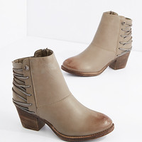 Taupe Laced Back Bootie
