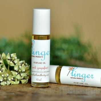 Perfume Roll On Oil  Pink Grapefruit by lingerbathandbody on Etsy