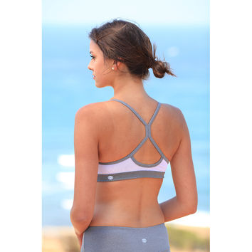 Core Sister Sports Bra - Light Gray