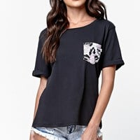 Vans - Eley Kishimoto Pocket Crew T-Shirt - Womens Tee - Black
