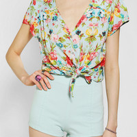 Pins And Needles Tie-Front V-Neck Shirt