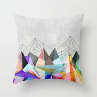 Colorflash 3 Throw Pillow by Mareike Böhmer Graphics