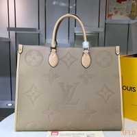 HCXX Spe 935 Louis Vuitton LV M445713 Leather Monogram Handle Tote Fashion Onthego Frame Shopper 41-34-19cm